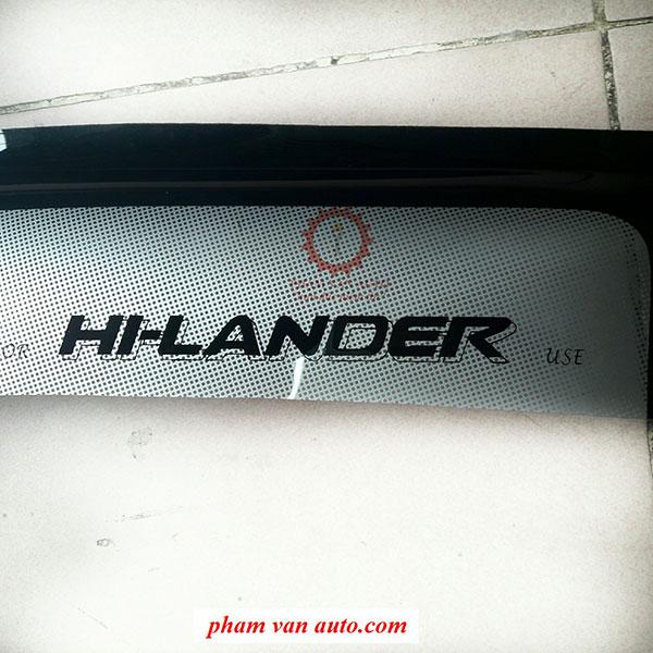 Vè Che Mưa Toyota Hilander