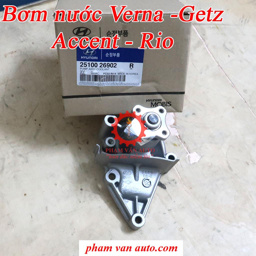 Bơm Nước động Cơ Getz 1.4 Verna Accent Rio 2008 2510026902 Hàng Xịn