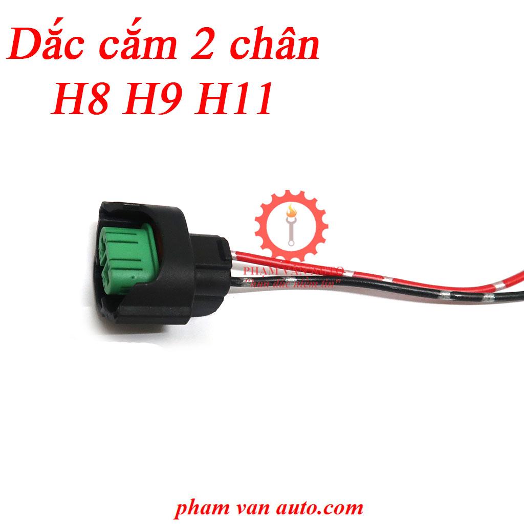 Dắc Cắm 2 Chân Cho Bóng đèn Halogen H8 H9 H11 Lắp Cho Xe ô Tô